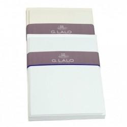 G.LALO 10 Ensembles Carte et Enveloppes 107x152mm Vergé Blanc