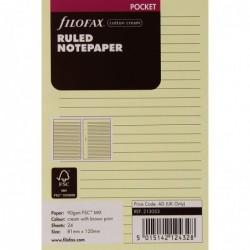 FILOFAX Recharge format Pocket feuilles de notes lignées Crème