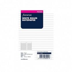 FILOFAX Recharge format Pocket feuilles de notes lignées Blanc