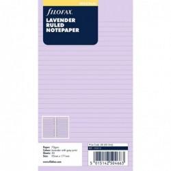 FILOFAX Recharge format Personal feuilles de notes lignées Lavande