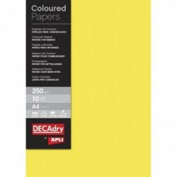 APLI Pochette 10 feuilles de couleur A4