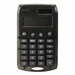 REBEL Calculatrice de poche 8 chiffres solaire/pile Rebell Starlet noire