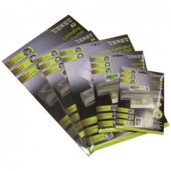 TEXET Feuilles de plastification A4 125 micronspar face, 250µ total, boite de 100