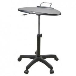 AIDATA Table poste mobile assis/debout à roulettes