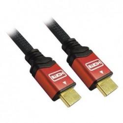 WIRETEK Cordon Haute Qualité HDMI 1.3 A/A 3.00m avec connecteurs Or et capôts Alu