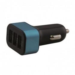 WAYTEX Chargeur allume cigare 3 entrées USB, 1A + 2A + 2.1A