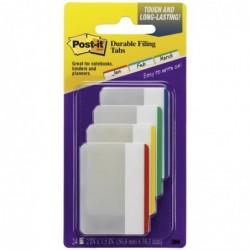 POST-IT Blister de 24 index strong large coloris assortis rouge, bleu, vert, jaune