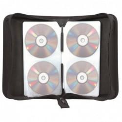 TEXET Pochette de transport zippée pour CD/DVD 128 disques