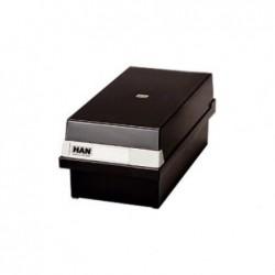 HAN Boîte à fiches Capacité env. 1300 fiches A6 paysage Polystyrène Noir
