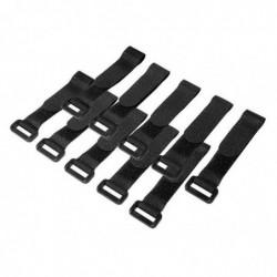 LOGILINK Paquet de 10 Attache-câble Scratch 150 x 20 mm Noir
