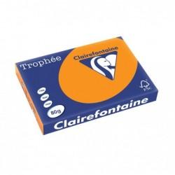TROPHÉE Ramette 500 Feuilles Papier 80g A3 420x297 mm Certifié FSC  fluo orange