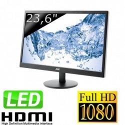 """AOC Ecran PC LED 23,6"""" (59,94 cm) 1920 x 1080 2 ms VGA/HDMI Noir"""