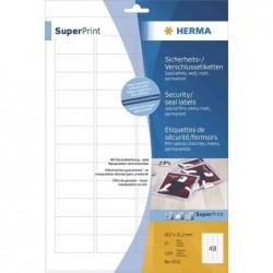 HERMA SuperPrint étiquettes de fermeture, 63,5 x 29,6 mm, 25 feuilles A4