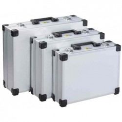 """ALLIT malette d'aluminium """"AluPlus Basic"""", 3 pièces, argent"""