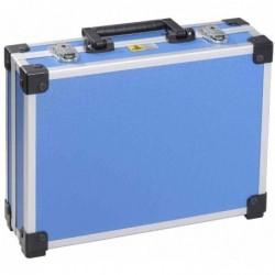 "ALLIT Malette Aluminium ""AluPlus Basic"" Taille L (L)345 x (P)285 x (H)105 mm Bleu"