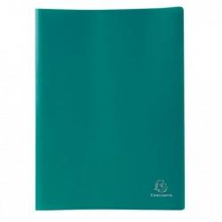 EXACOMPTA Protège Document prolypropylène souple pochettes grainées opaque 80 vues VERT