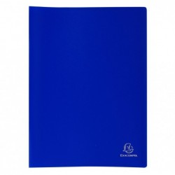 EXACOMPTA Protège-documents PP Souple Pochettes grainées Opaque 80 vues A4 Bleu