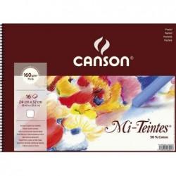 CANSON Album Papier Mi-Teintes 320 x 410 mm 16 Feuilles 160g  Blanc