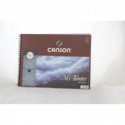 CANSON Papier Mi-Teintes en album 240 x 320 mm 160g 16 Feuilles Noir
