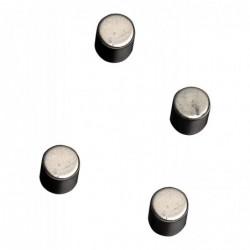 NAGA Lot de 4 aimants cylindriques puissants Ø 10 mm coloris argenté