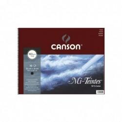 CANSON Album 16 Feuilles papier MI-TEINTES® 32X41 cm 160G NOIR