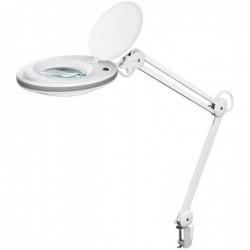 FIXPOINT Lampe LED Loupe 7.5 W pince de fixation Blanche