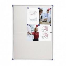 NOBO Vitrine d'intérieur extra plate fond magnétique 9 x A4 Porte battante blanc