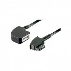 GOOBAY Rallonge Téléphone Allemande TAE-F plug to TAE-U jack 15 m Noir