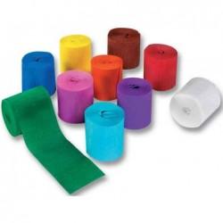 FOLIA Lot de 10 Bande de papier crépon, (l)50 mm x (L)10 m Coloris Assorti