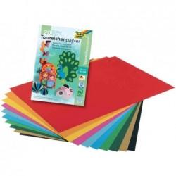 FOLIA Bloc de papier teinté A4 130 g 20 feuilles en 10 couleurs