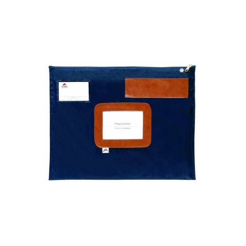 ALBA Pochette navette bleue en PVC dimensions : 42x32cm