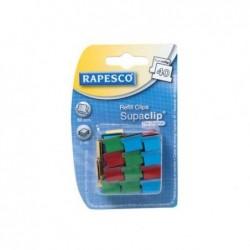 SUPACLIP Pqt de 50 Pinces de Recharge Supaclip® 40 Multicolores