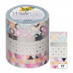 FOLIA ruban adhésif décoratif Washi-Tape HOTFOIL SILBER,