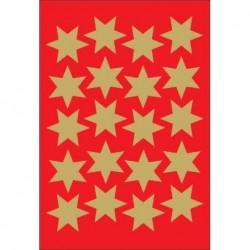 """HERMA Stickers de Nöel """"étoiles"""" 21 mm Doré 3 feuilles de 20"""