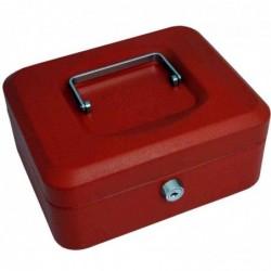 PAVO Caisse à monnaie, rouge, (L)200 x (P)160 x (H)90 mm
