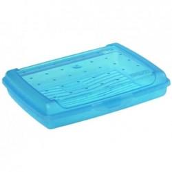 "OKT boîte à pain ""luca"" Click-Box, mini, bleu-transparent"