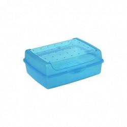 "OKT boîte à pain ""luca"" Click-Box, midi, bleu-transparent"