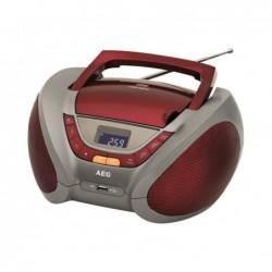 AEG Radio stéréo AEG SR 4358 CD/MP3/USB Gris/Rouge