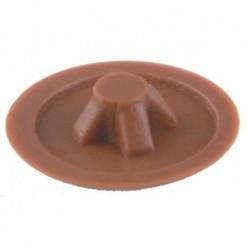SUKI Lot de 20 Cache Vis PZ 3 Plastique 6 mm Marron