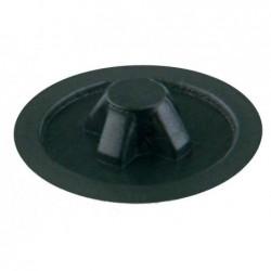 SUKI Lot de 20 Cache Vis PZ 3 Plastique 6 mm Noir