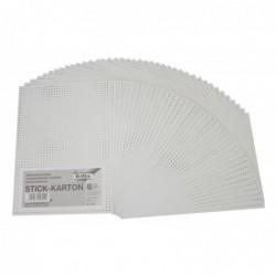 FOLIA Lot de 40 Feuilles Carton Perforé 300g 175 x 245 mm à Broder