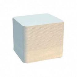 FOLIA Lot de 100 Sous-bock uni carré 93 x 93 mm Blanc à Décorer