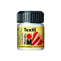 "MARABU Flacon Peinture textile ""Textil"" 15 ml Blanc"