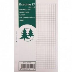 EXACOMPTA Recharge accessoire Exatime 17 quadrillé 5x5 44 feuillets 172x105 mm