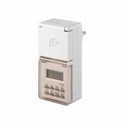 GOOBAY Prise minuteur IP44 digital timer Blanc
