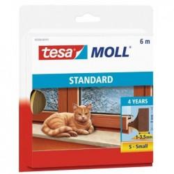 TESA Moll joint en mousse, autoadhésif, marron, 9 mm x 6 m