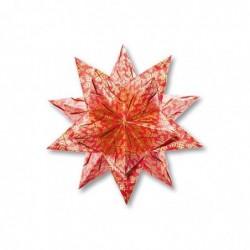 FOLIA Lot de 32 Feuilles de Papier Origami 90g 15x15 cm Etoile Bascetta