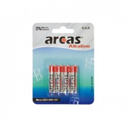 ARCAS Pack de 4 piles Alcaline Micro AAA