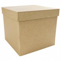 DÉCOPATCH Boîte carrée 16x16x14cm à Décorer