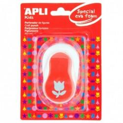 APLI Perforateur fantaisie mousse Tulipe  Poinçon : 25,4mm